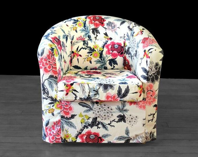 Custom Flower Floral IKEA TULLSTA Chair Slip Cover