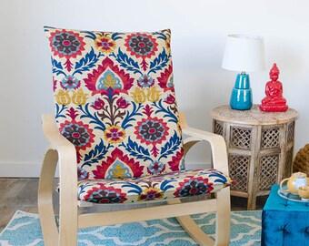 Flower Ikea Chair Cover, IKEA POÄNG Cushion Slipcover