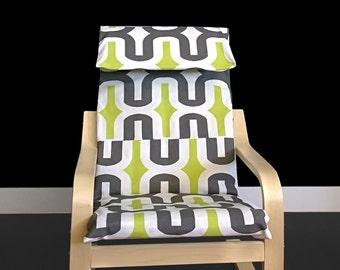 Brown Green IKEA KIDS POÄNG Cushion Slipcover