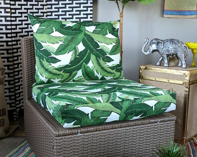 IKEA OUTDOOR Palm Leaves Slip Cover, Ikea Cushion Covers, Custom Ikea Decor, Bespoke Arholma Covers, Tommy Bahama Swaying Palms