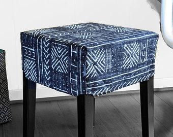 Black African Tribal Print, Ikat IKEA Stool Seat Cover