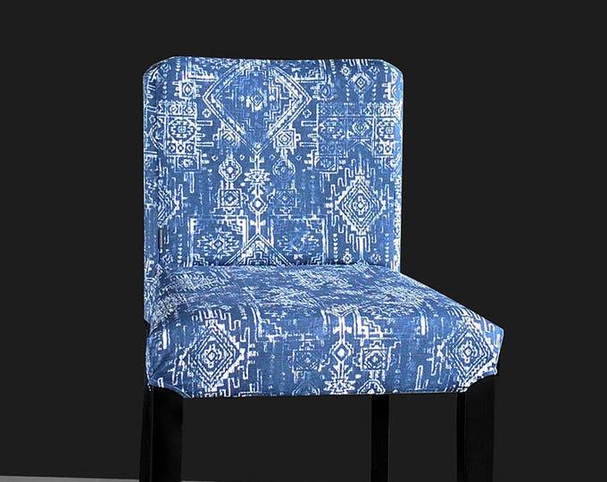 IKEA HENRIKSDAL Bar Stool Chair Cover, Tribal Indian Blue