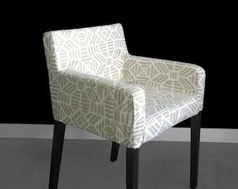 IKEA NILS Geometric Chair Slip Cover - Ribble Athena Gold