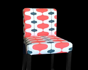 Sixties Style IKEA HENRIKSDAL Stool Chair Cover, Psychedelic Henriksdal Cover