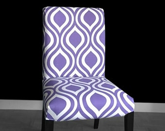 PAIR Purple Indian Style IKEA HENRIKSDAL Dining Chair Covers