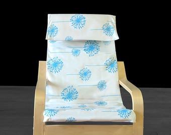 Blue Dandelion IKEA Childrens POÄNG Cushion Slipcover, Ready to Ship
