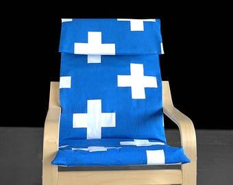Blue Cross IKEA KIDS POÄNG Cushion Slipcover, Ready to Ship