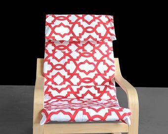 Red Shapes IKEA KIDS POÄNG Cushion Slipcover