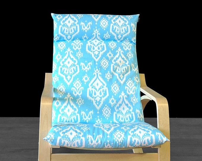 SALE Custom Indian Print IKEA POÄNG Chair Cover - Raji Sky Blue