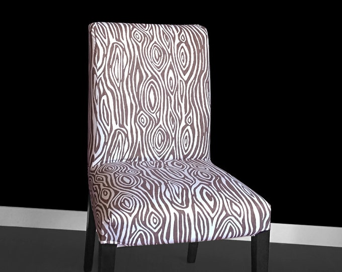 Wood Print IKEA HENRIKSDAL Dining Chair Cover, Tree Design Henriksdal Seat Cover