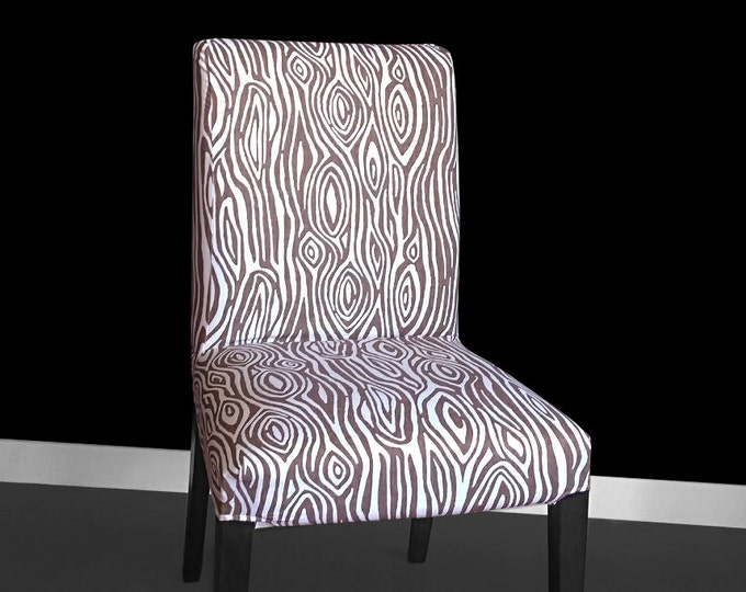 Brown Wood Ikea HENRIKSDAL Dining Chair Covers