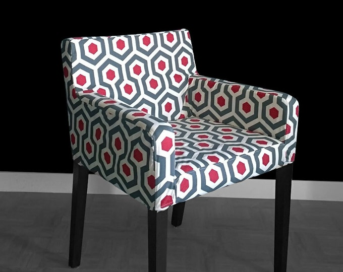 Hexagon IKEA NILS Chair Seat Cover - Magna Timberwolf