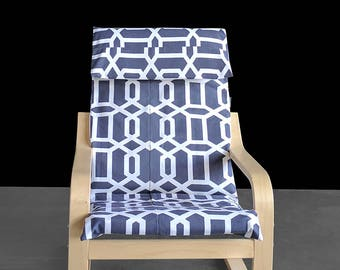 Gray Purple Custom IKEA KIDS POÄNG Cushion Slipcover