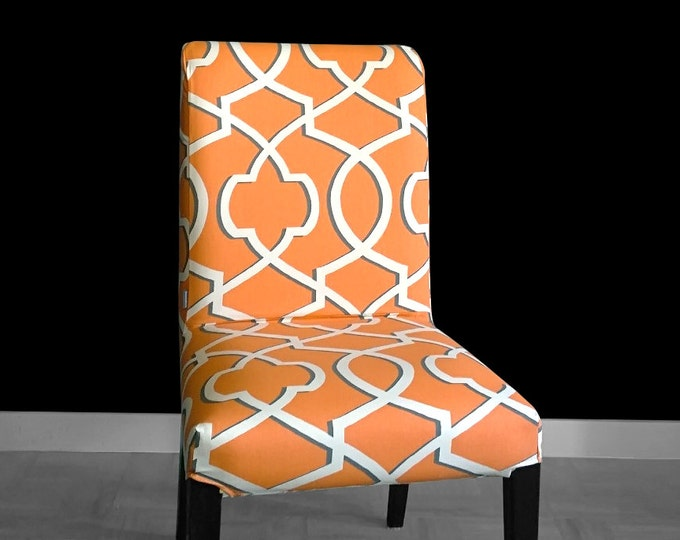 Orange Custom IKEA HENRIKSDAL Dining Chair Cover