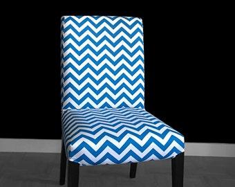 Blue Chevron HENRIKSDAL Chair Cover, Zig Zag Henriksdal Seat Cover