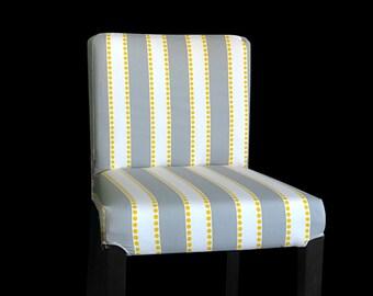 IKEA Bar Stool Chair Cover, Grey Stripe Summerhouse Henriksdal Cover