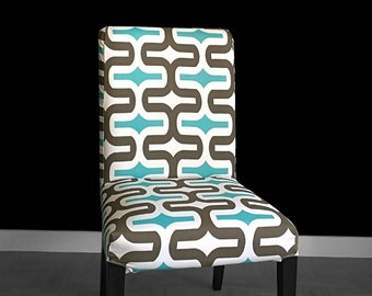 Bold Pattern IKEA HENRIKSDAL Dining Chair Cover, Summerhouse Henriksdal Slipcover