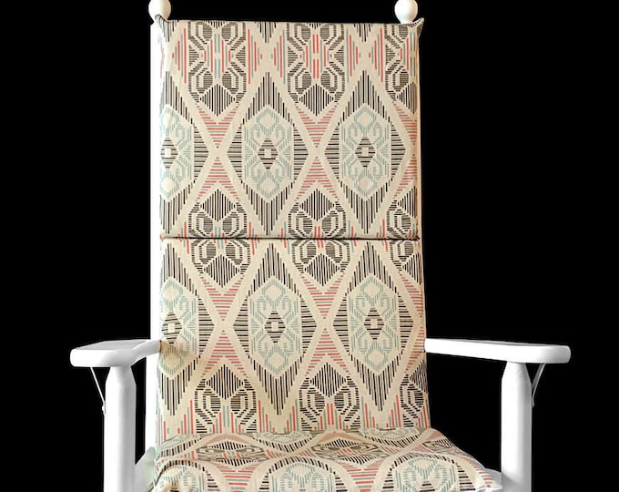 70's Style Rocking Chair Pad, Vintage Era Rocking Chair Pads Cover