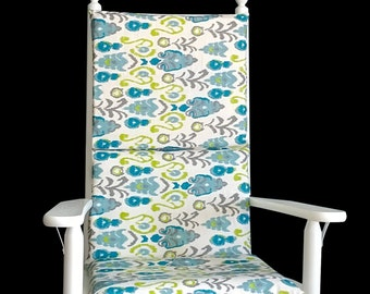 Vintage Style Flower Pattern Rocking Chair Cover