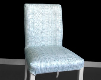 Light Blue Formal IKEA HENRIKSDAL Dining Chair Cover