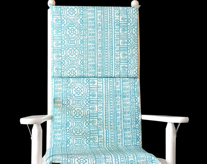 Turquoise Rocking Chair Cushion Covers Set