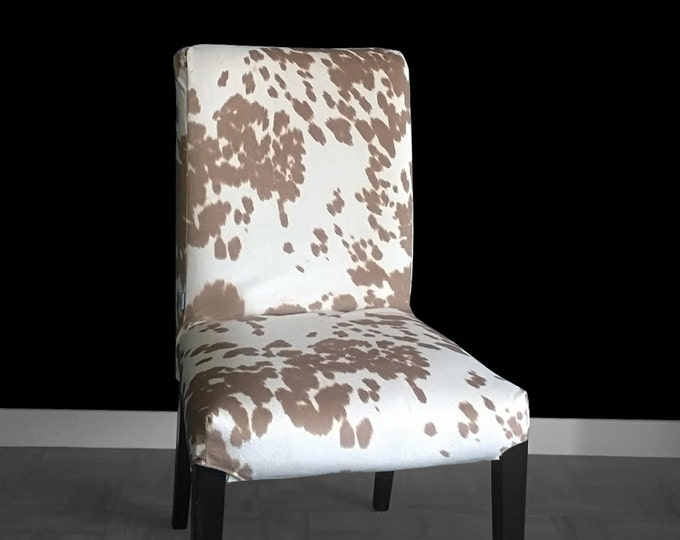 Cow Print IKEA HENRIKSDAL Dining Chair Cover, Custom Cow Hide Henriksdal Cover