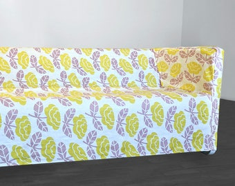 IKEA Sofa Slip Cover for KNOPPARP, Yellow, Lavender Floral