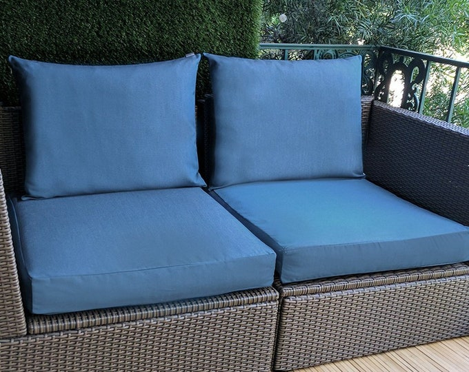 IKEA Blue OUTDOOR Slip Cover, Ikea Cushion Covers, Custom Ikea Decor, Bespoke Arholma Covers, Sunbrella Sapphire Blue