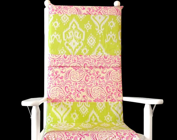 Indian Ikat Rocking Chair Cushion Pads Cover