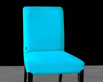 Solid Turquoise Blue IKEA HENRIKSDAL Dining Chair Cover, Custom Henriksdal Covers