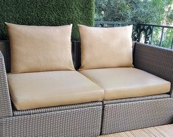 IKEA OUTDOOR Slip Cover, Ikea Cushion Covers, Custom Ikea Decor, Bespoke Arholma Covers, Sunbrella Solid Beige