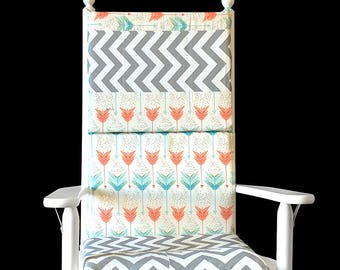 Abstract Pattern Rocking Chair Cushion Cover