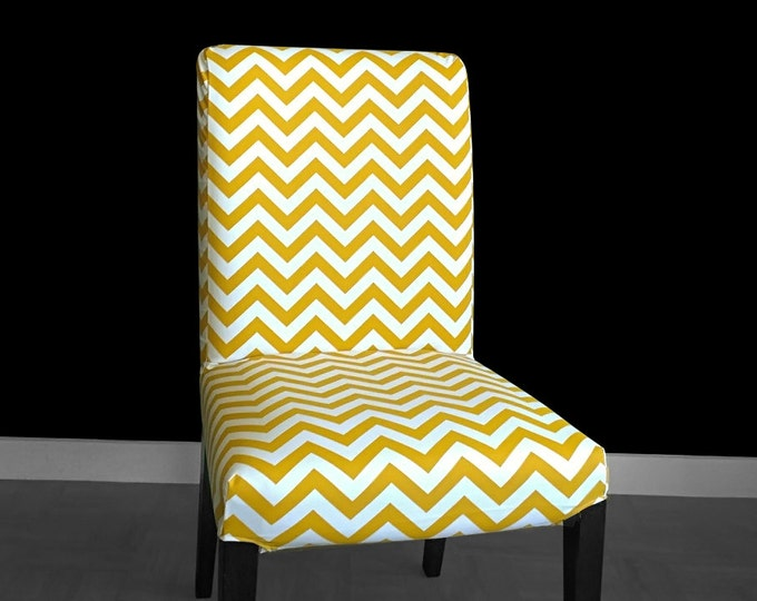 Gold Chevron IKEA HENRIKSDAL Dining Chair Cover, Gold Zig Zag Henriksdal Seat Cover