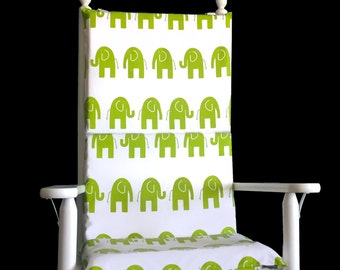 Elephant Rocking Chair Pads, Kids Rocking Chair Slipcovers