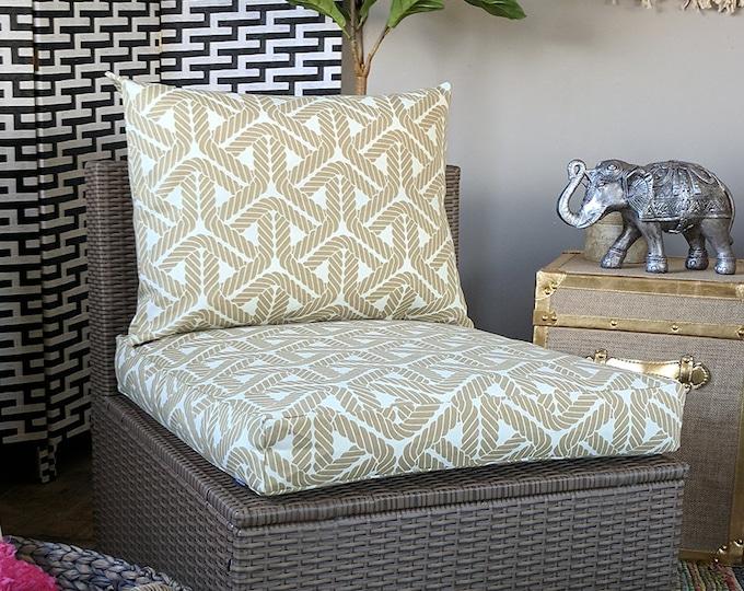 Beige Durable IKEA Geometric OUTDOOR Slip Cover, Ikea Cushion Covers, Custom Ikea Decor, Bespoke Arholma Covers, Topsail Sand