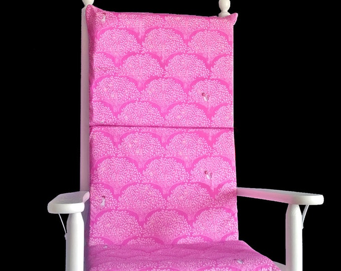 Pink Trees Rocking Chair Foam Inserts And Cushion