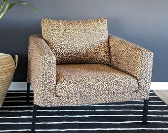 IKEA KOARP Chair Cover in Leopard Print, African Ikea Decor, Animal Print Indoor Outdoor Jungle Chair Cover