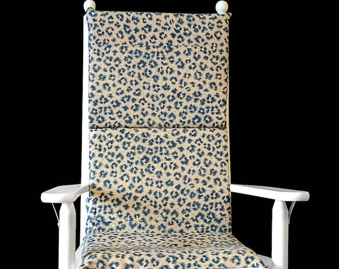 Leopard Print Rocking Chair Cushion And Covers