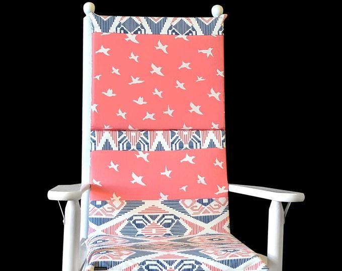Birds Patchwork Custom Rocking Chair Cushion Cover