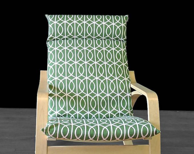 IKEA POÄNG Cushion Slip Cover - Dwell Studio Bella Porte Watercress Green