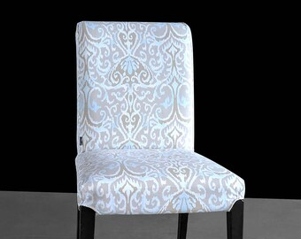 Ikat Gray Beige IKEA HENRIKSDAL Custom Dining Chair Cover