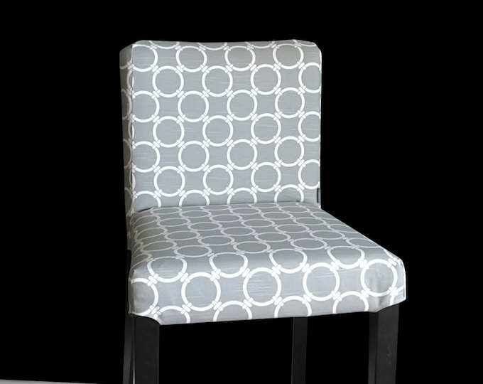 Contemporary  Gray IKEA HENRIKSDAL Bar Stool Chair Cover