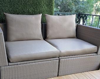 Sunbrella IKEA OUTDOOR Slip Cover, Ikea Cushion Covers, Ikea Decor, Bespoke Arholma Covers, Solid Taupe