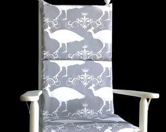 Peacock Bird Rocking Chair Covers