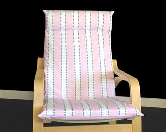 Pink Stripe Ikea Poang Chair Cover