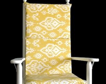 Saffron Yellow Indian Rocking Chair Cushion