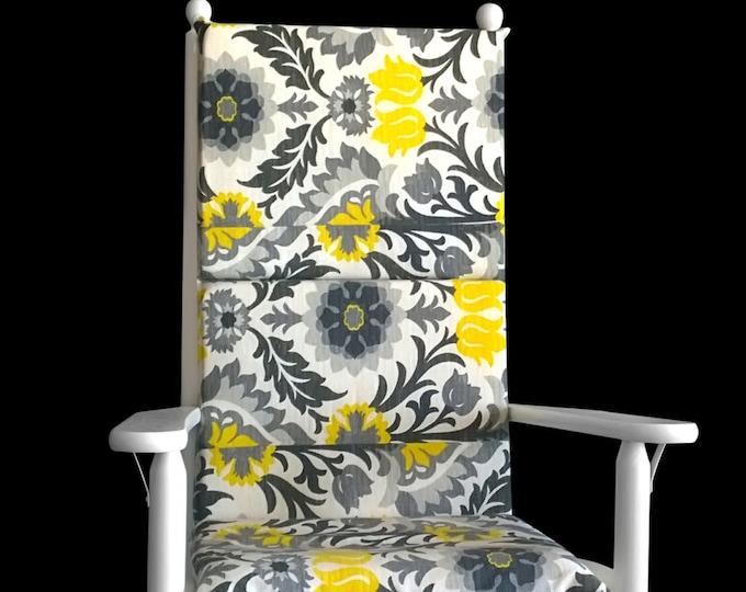Flower Floral Rocking Chair Cushion Cover