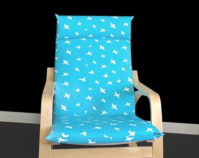 Bird Poang Chair Cover, Bird Ikea Slipcover, Custom Bird Seat Cover