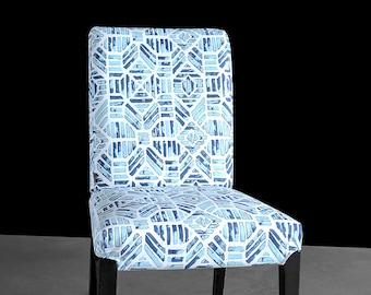 IKEA HENRIKSDAL Blue Aztec Chair Cover