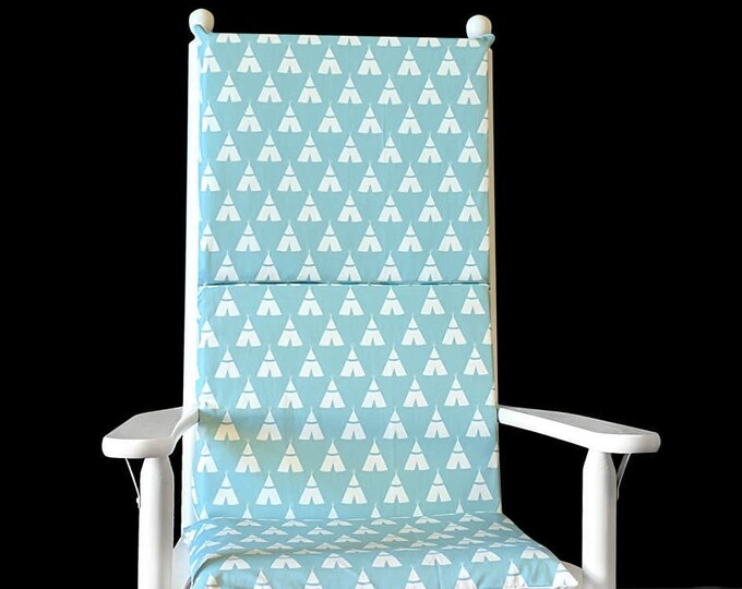 Indian Wig Wam Rocking Chair Cushion, Tee Pee Seat Covers